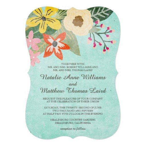 Flores bonitas que Wedding o convite/Aqua