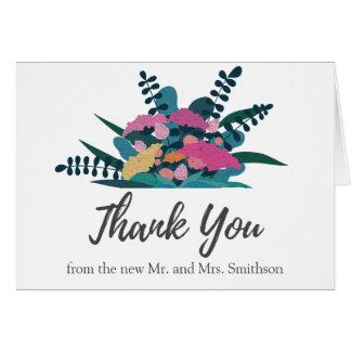 Flores bonito coloridas do chique que Wedding o Cartão De Nota