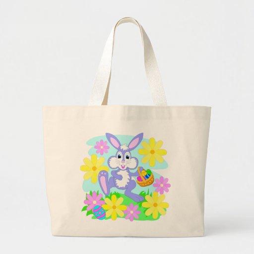 Flores bonitos do coelho dos desenhos animados do  bolsa para compra