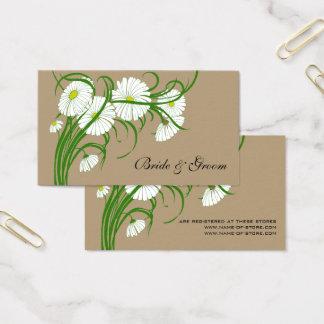 Flores brancas da margarida de Gerber do vintage Cartão De Visitas
