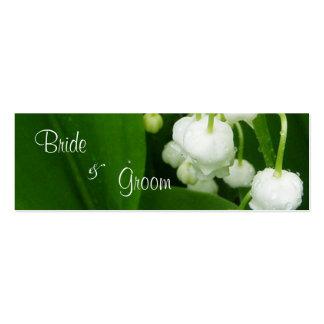 Flores brancas que Wedding o Tag dos cartões de ag Modelos Cartões De Visitas