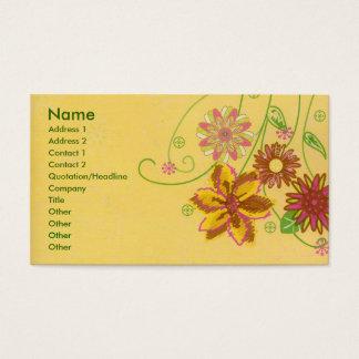 Flores Cartão De Visitas