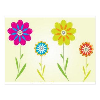 flores cartão postal