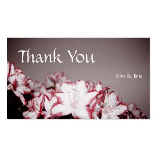 Flores - cartões de agradecimentos do casamento cartão de visita