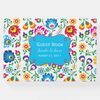 Flores coloridas brilhantes que Wedding o livro de
