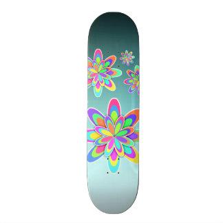 Flores coloridas femininos shape de skate 20cm