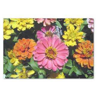Flores coloridas lenço de papel 10lb feito sob