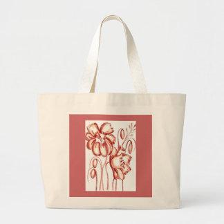 Flores coloridas oxidadas que compram o bolsa
