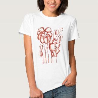 Flores coloridas oxidadas t-shirt