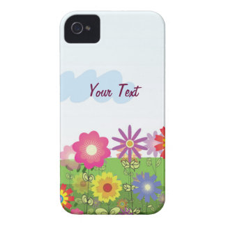 Flores coloridas - personalize capa para iPhone 4 Case-Mate