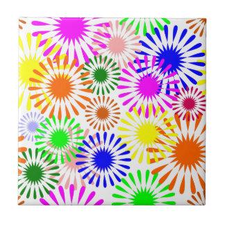 Flores coloridos azulejo