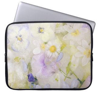 Flores congeladas capas de computadores notebooks