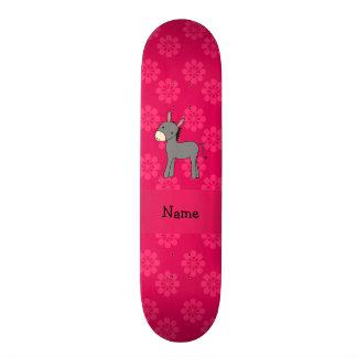 Flores conhecidas personalizadas do rosa do asno skates