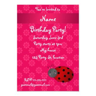 Flores conhecidas personalizadas do rosa do convite