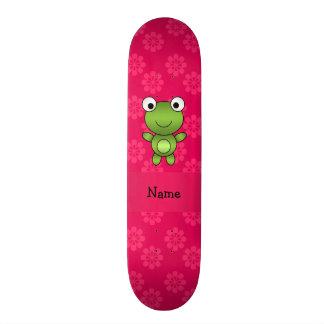 Flores conhecidas personalizadas do rosa do sapo d shape de skate 18,1cm