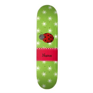Flores conhecidas personalizadas do verde do shape de skate 18,1cm