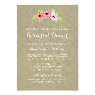 Flores & convite do jantar de ensaio de
