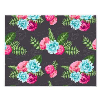 Flores cor-de-rosa azuis de X Impressão De Foto