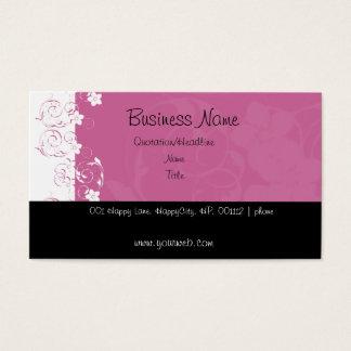 Flores cor-de-rosa e brancas cartão de visitas