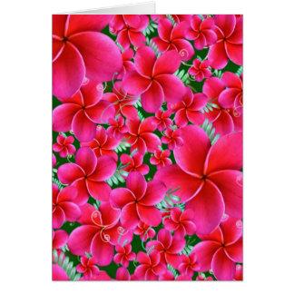 Flores cor-de-rosa e intensas, aniversário da cartão comemorativo