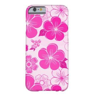 Flores cor-de-rosa femininos abstratas capa barely there para iPhone 6