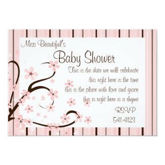 Flores cor-de-rosa pequenas convites personalizados