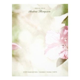 Flores cor-de-rosa que Wedding o cabeçalho Modelos De Papel De Carta