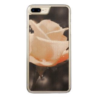 Flores cor-de-rosa românticas capa iPhone 7 plus carved