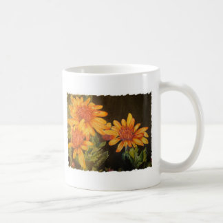 Flores da aguarela caneca de café