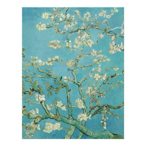 Flores da amêndoa por Vincent van Gogh Panfleto