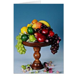 Flores da exposição da fruta cartão comemorativo