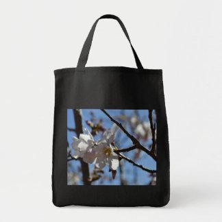 Flores da flor de cerejeira bolsa para compras