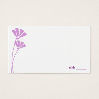 Flores da lavanda, cartões do lugar