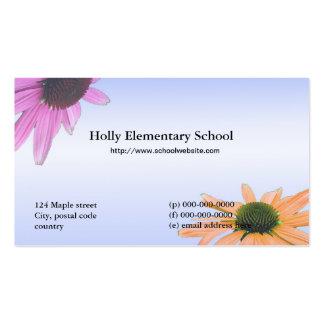 Flores da margarida do professor cartão de visita