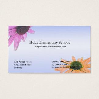 Flores da margarida do professor cartão de visitas