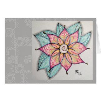 Flores da meditação, vazio para dentro cartão comemorativo