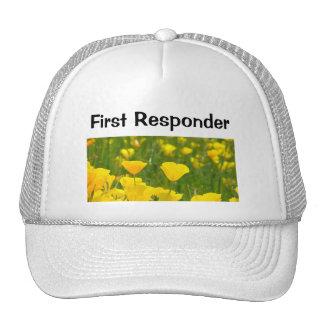 Flores da papoila dos chapéus do primeiro camionis bonés