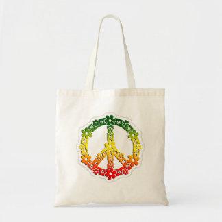 flores da paz da reggae do rasta bolsa de lona