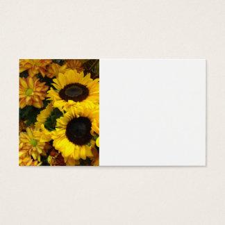 Flores da queda do girassol cartão de visitas
