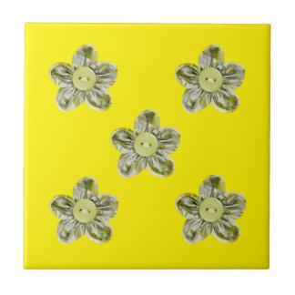 Flores da verde azeitona para a cozinha azulejo quadrado pequeno