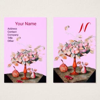 FLORES das FRUTAS da ESTAÇÃO, Lilac do rosa do Cartão De Visitas