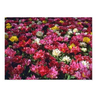 Flores das tulipas do dobro misturado convite