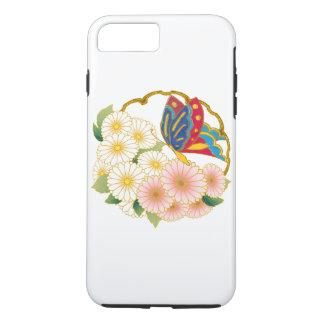 Flores de borboleta capa iPhone 7 plus