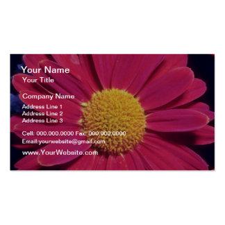 Flores de bronze dadas polimento branco cartão de visita