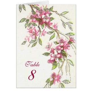 Flores de cerejeira cartão comemorativo