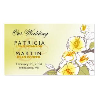Flores de cerejeira de florescência que Wedding o Cartão De Visita