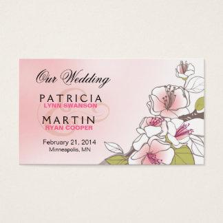 Flores de cerejeira de florescência que Wedding o Cartão De Visitas