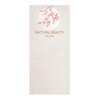 Flores de cerejeira naturais dos termas da beleza planfetos informativos coloridos