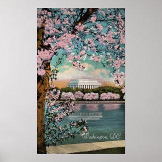 Flores de cerejeira no poster do Washington DC