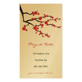 Flores de cerejeira orientais vermelhas do asiátic